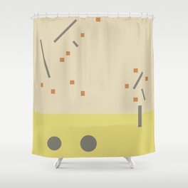 Dancing trees in Fall Shower Curtain