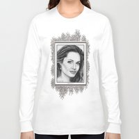 angelina jolie Long Sleeve T-shirts featuring Angelina Jolie in 2005 by JMcCombie
