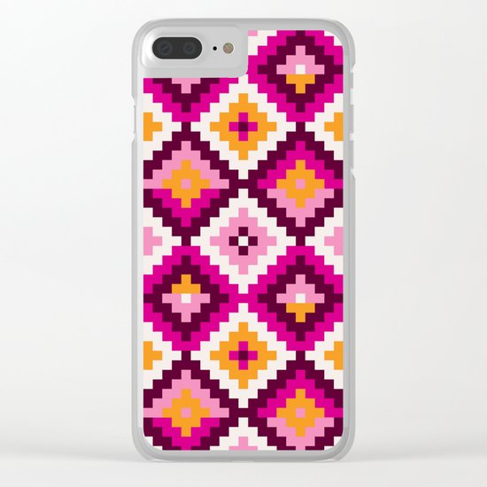 Aztec pattern Clear iPhone Case