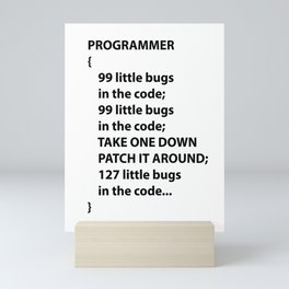 Coder Programmer Nerd app developers Gifts Mini Art Print