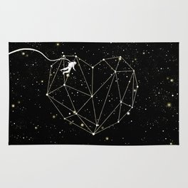 Astronaut Found Love in Space Rug