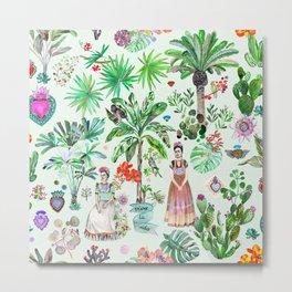 Frida's Garden Metal Print