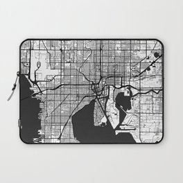 Tampa Map Gray Laptop Sleeve
