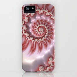 Candy Cane Fiesta - Fractal Art iPhone Case