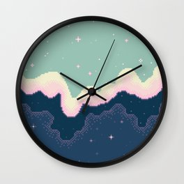 Pixel Day and Night Galaxy Wall Clock