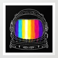 Astronaut With The Great Color Art Print