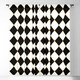 Chess board with golden threads Blackout Curtain