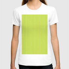 Lime Green Pinstripe T-shirt