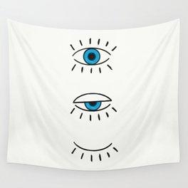 Summer Evil Eyes Wall Tapestry