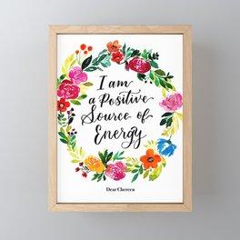Positive Source of Energy Framed Mini Art Print