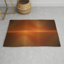 Orange Sine Wave Rug