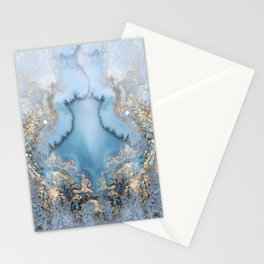GOLD CLOUDS MARBLE Stationery Cards
