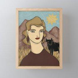 Taurus by Amanda Laurel Atkins Framed Mini Art Print