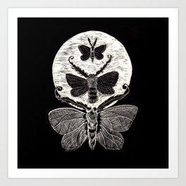 Lunar Moths Art Print