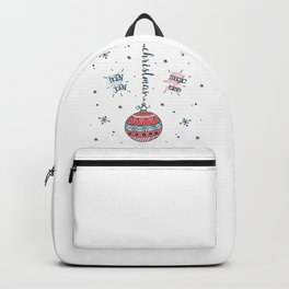 Holly Jolly Magic Time Christmas Tree Ornament Backpack