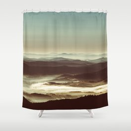 White sea Shower Curtain