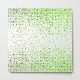 Green bathroom mosaic Metal Print
