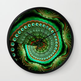 Pretty eyes, swirling pattern abstract Wall Clock