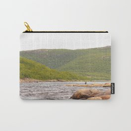 Fly-fishing On The River  Carry-All Pouch
