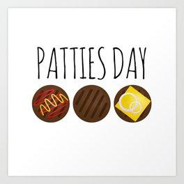 Patties Day Art Print