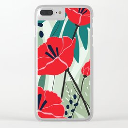poppy seed Clear iPhone Case