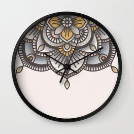 Mandala Beige Wall Clock