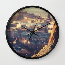 Edinburgh At Dusk Wall Clock