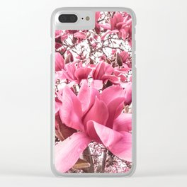 Mellow Magnolia Clear iPhone Case
