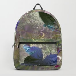 The butterfly of a fractal dreamscape Backpack