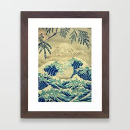 The Great Blue Embrace at Yama Framed Art Print