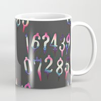 numbers Mugs featuring Numbers! grey by gasponce