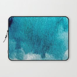 Rest: a minimal, blue abstract piece Laptop Sleeve