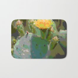 Sunlight On Blooming Cactus Bath Mat
