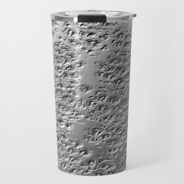 Damaged silver Travel Mug