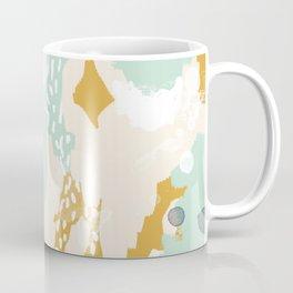 Tinsley - abstract painting minimalist decor nursery dorm college art gold navy Coffee Mug