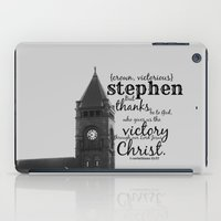 stephen king iPad Cases featuring Stephen victorious by KimberosePhotography