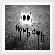 Howl Owl Graffiti Art Print