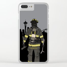 Seattle firefighter Clear iPhone Case