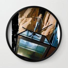 Quantum Leap of Faith Wall Clock