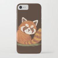 red panda iPhone & iPod Cases featuring Panda by Toru Sanogawa