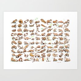 Otters collection Art Print