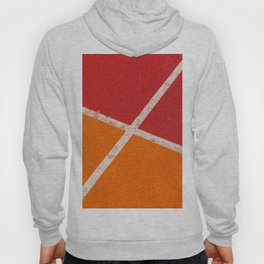 Three colors and white Hoody