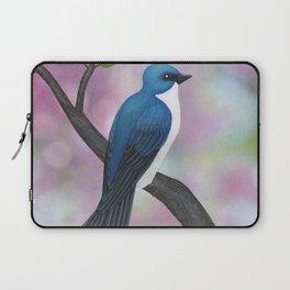 tree swallow and pink bokeh Laptop Sleeve