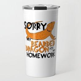 Funny Bearded Dragon Shirt Gift Kids Travel Mug