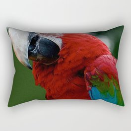 Close-Up Of A Green-Winged Macaw Rectangular Pillow