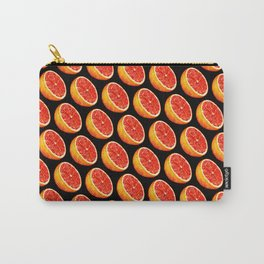Grapefruit Pattern - Black Carry-All Pouch