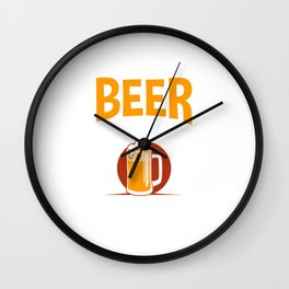 IPA Brew Beer Lover Drink Beer Responsibly Don't Spill It Wall Clock
