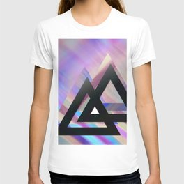 Violet triangles T-shirt