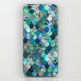 Mermaid Pattern, Sea,Teal, Mint, Aqua, Blue iPhone Skin