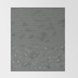 Dragonfly Pattern on Warm Grey Throw Blanket